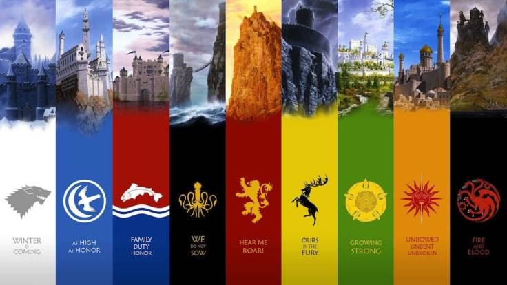 game of thrones - Les maisons