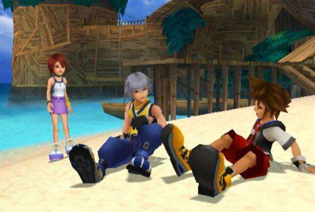 Kingdom Hearts Sora & Riku & Kairi