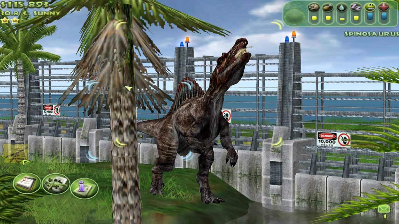 jurassic park operation genesis spinausaure