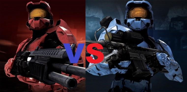 Halo Combat Evolved Red VS Blue