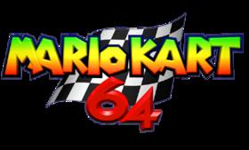 Mario Kart 64 Logo PNG Render