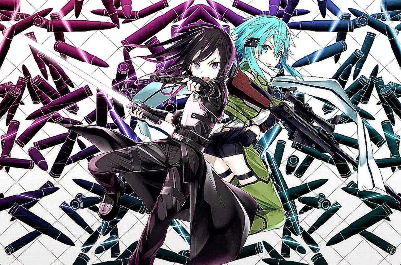 Sword Art Online Wallpaper Gun Gale 01