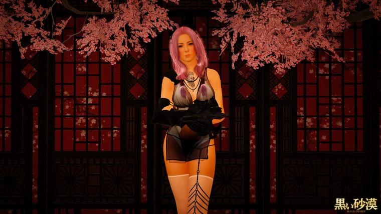 black desert online vakyrie thème sakura 2