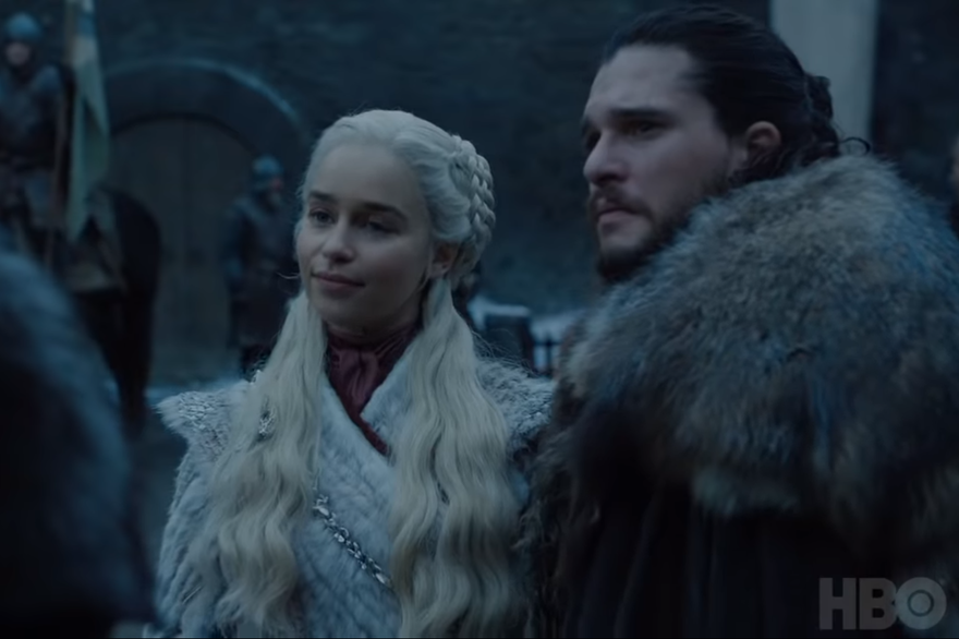 Games Of Thrones Daenerys & Jon- Saison 8
