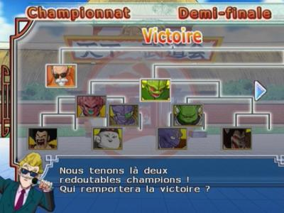 dragon ball z budokai 2 Mode Championnat du monde