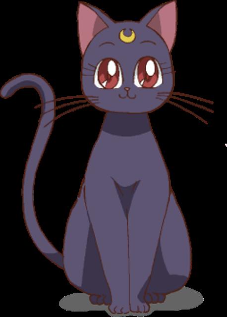 Sailor Moon - Luna - Chat - Render - PNG