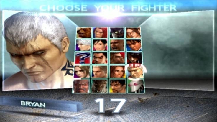 Tekken 4 - Bryan - Écran De Sélection Des Personnages