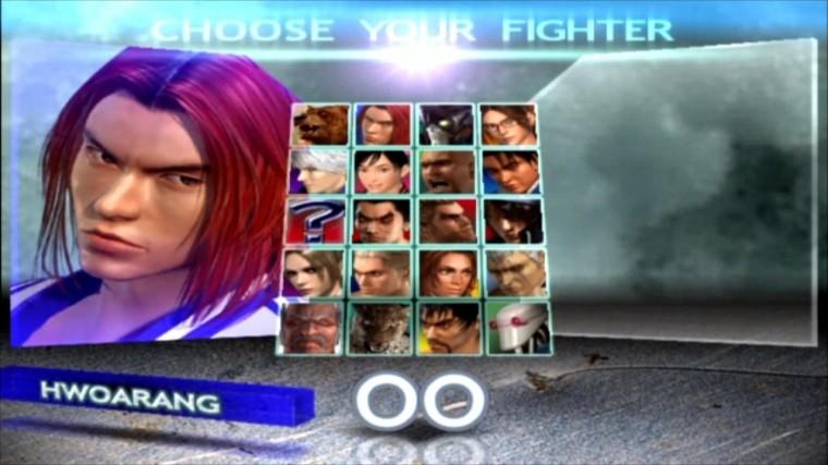 Tekken 4 - Hwoarang - Écran De Sélection Des Personnages
