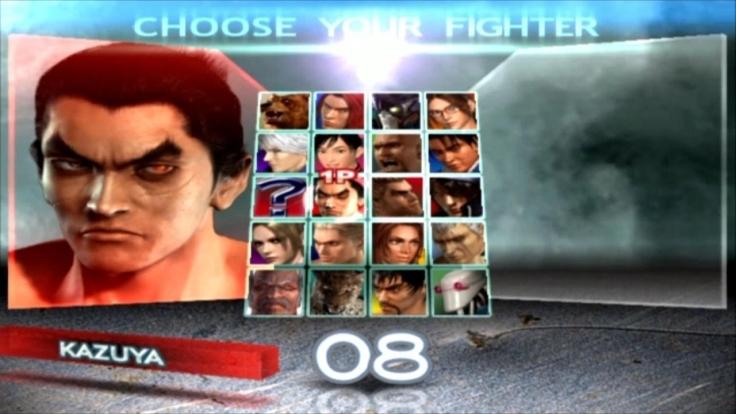 Tekken 4 - Kazuya - Écran De Sélection Des Personnages