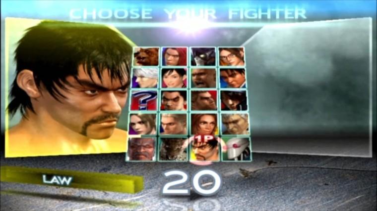 Tekken 4 - Law - Écran De Sélection Des Personnages