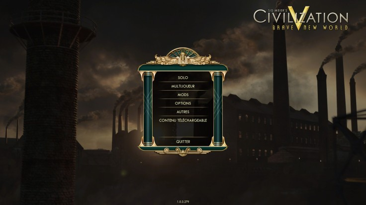 Civilization 5 - Menu Du Jeu