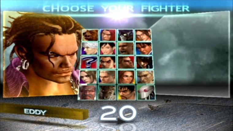Tekken 4 - Eddy - Écran De Sélection Des Personnages