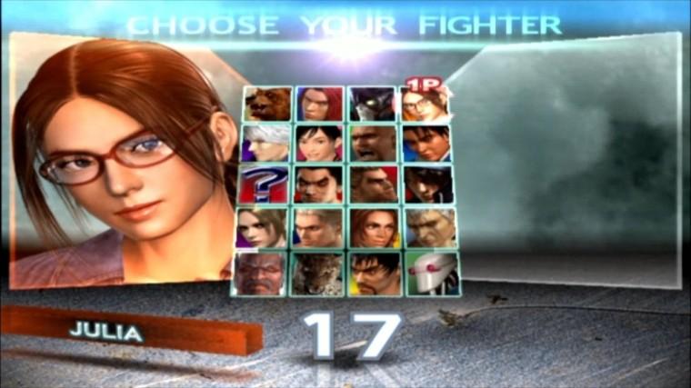 Tekken 4 - Julia - Écran De Sélection Des Personnages