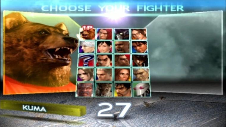 Tekken 4 - Kuma - Écran De Sélection Des Personnages