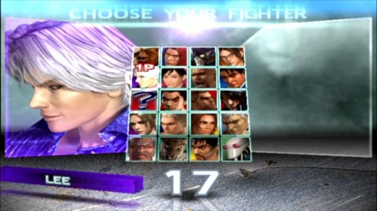 Tekken 4 - Lee - Écran De Sélection Des Personnages