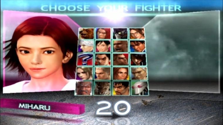 Tekken 4 - Miharu - Écran De Sélection Des Personnages