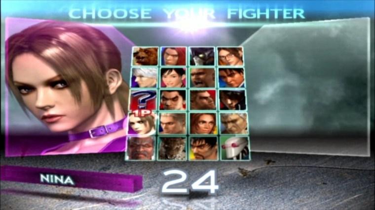 Tekken 4 - Nina - Écran De Sélection Des Personnages