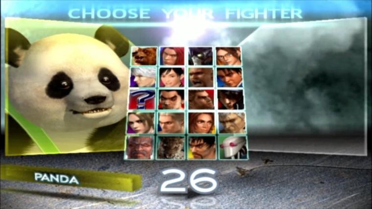 Tekken 4 - Panda - Écran De Sélection Des Personnages