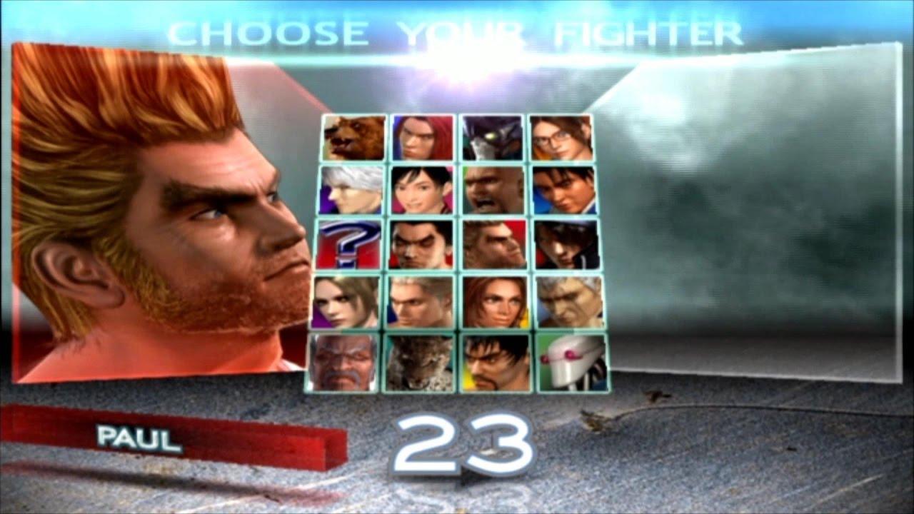 Tekken 4 - Paul - Écran De Sélection Des Personnages