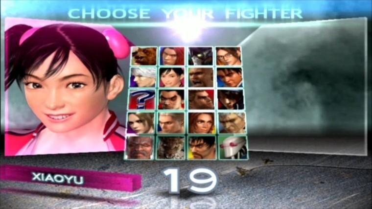 Tekken 4 - Xiaoyu - Écran De Sélection Des Personnages