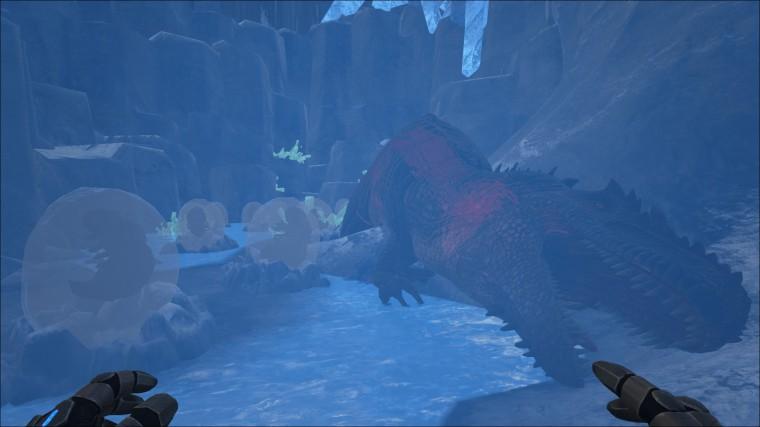 Ark Survival Evolved - Grotte De Glace Avec Gigano